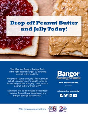 Bangor Savings PBJ Drive Flyer May 2018