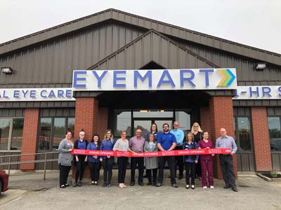 ribbon cutting eyemart express 6