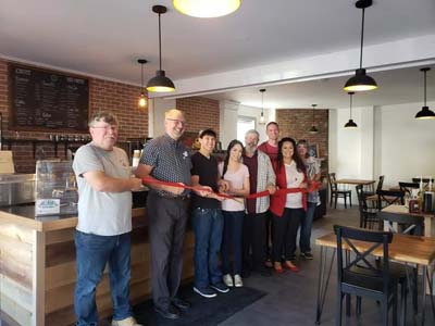 ribbon cutting traverse coffee 2